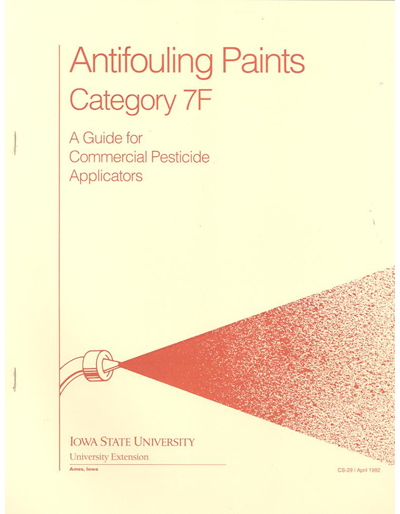 Category 7F, Antifouling Paints -- A Guide for Commercial Pesticide Applicators