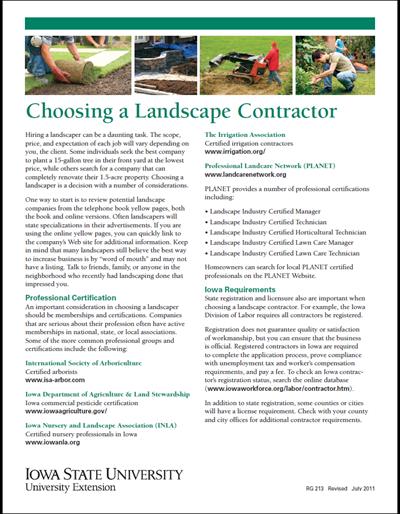 Choosing a Landscape Contractor