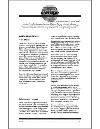 Confinement Site Manure Applicator Study Guide -- Chapter 3: Storage