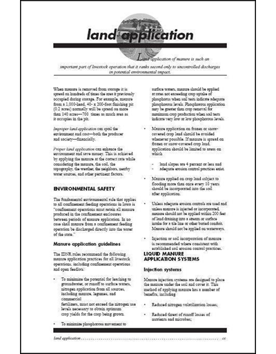 Commercial Manure Applicator Certification Study Guide Chapter 4: Land Application