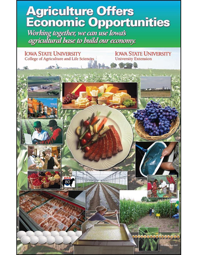 Agriculture Offers Economic Opportunities (11 inch x 17 inch poster)