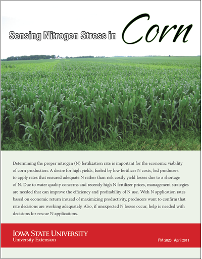 Sensing Nitrogen Stress in Corn