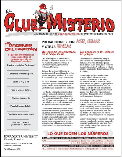 "Precauciones con Aves, Abejas, y Otras Bestias -- El Club Misterio | Spanish version of ""The Mystery Club"""