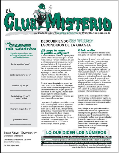 "Descubriendo Los Peligros Escondidos de la Granja -- El Club Misterio | Spanish version of ""The Mystery Club"""