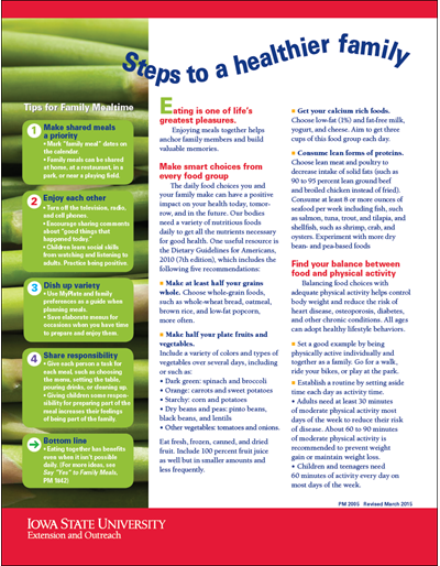 Steps to a Healthier Family
