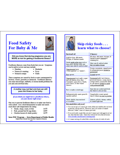 Food Safety For Baby & Me/La Seguridad Alimenticia Durante el Embarazo