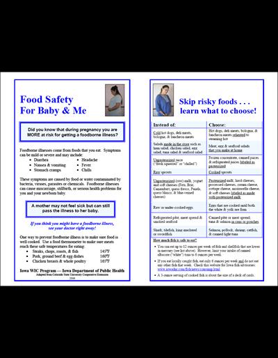Food Safety For Baby & Me/La Seguridad Alimenticia Durante el Embarazo