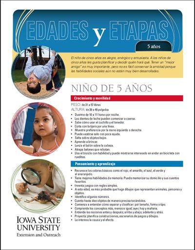 5 años de edad - Edades y Etapas