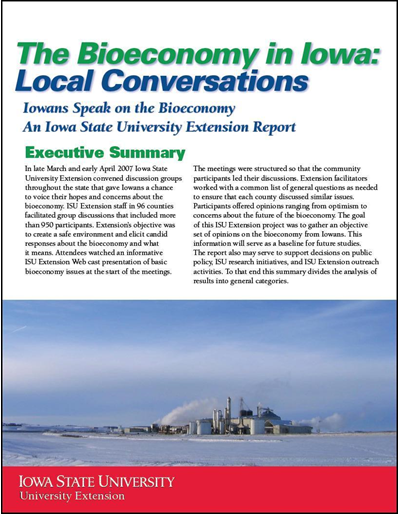 The Bioeconomy in Iowa: Local Conversations