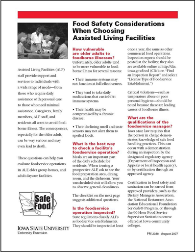 Food Safety Considerations When Choosing Assisted Living Facilities