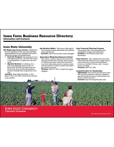 Iowa Farm Business Resource Directory