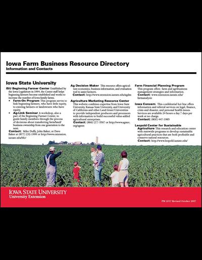 Iowa Farm Business Resource Directory