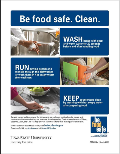 Be Food Safe: Clean, Separate, Cook, Chill