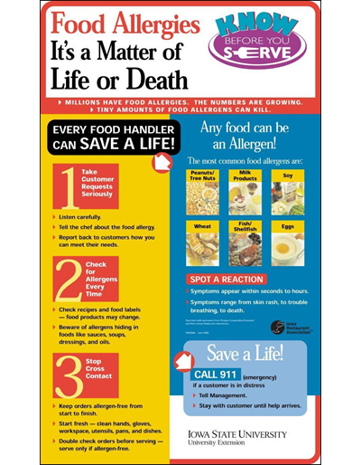 Food Allergies It's a Matter of Life or Death  Know Before You Serve
