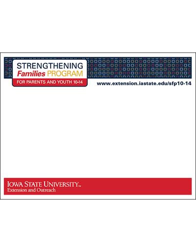 Strengthening Families Program: For Parents and Youth 10-14 - Sticky note pads (Unit=25 pads)