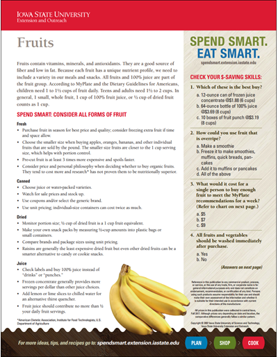 Spend Smart. Eat Smart. -- Fruits