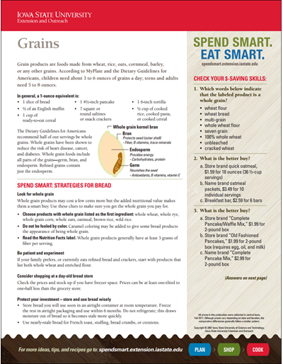 Spend Smart. Eat Smart. -- Grains