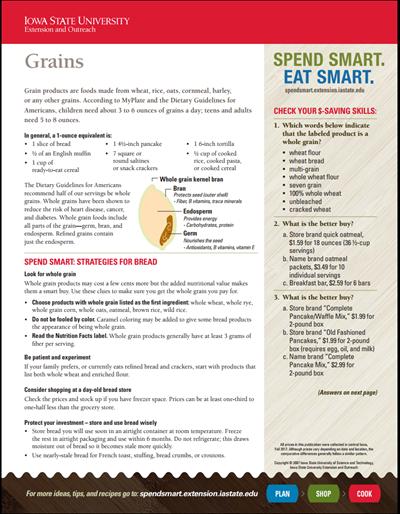Spend Smart. Eat Smart. -- Grains