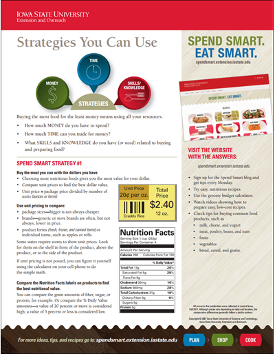Spend Smart. Eat Smart. -- Strategies You Can Use