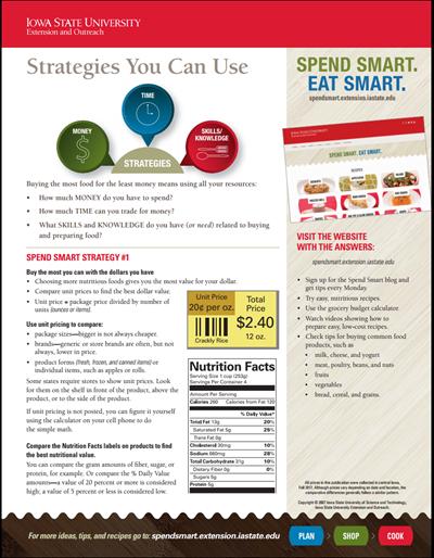 Spend Smart. Eat Smart. -- Strategies You Can Use / Estrategias que puede utilizar -- Estrategia para gastar de forma inteligente