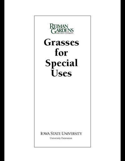 Grasses for Special Uses -- Reiman Gardens