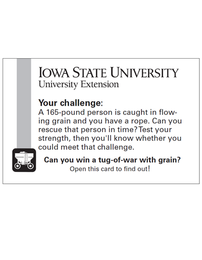 Tug-of-War with Grain: Adult challenge card -- Safe Farm (Unit=Pkg of 50)