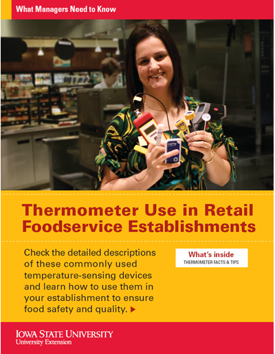 Thermometer Use in Retail Foodservice Establishments -- What Managers Need to Know
