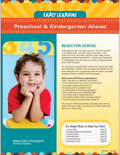 Preschool & Kindergarten Ahead -- Early Learning