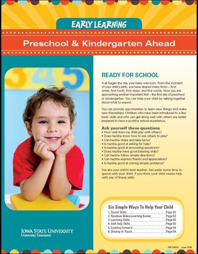 Preschool & Kindergarten Ahead -- Early Learning