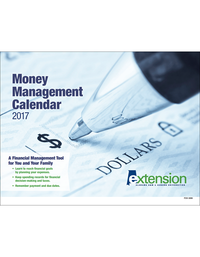 Money Management Calendar 2017