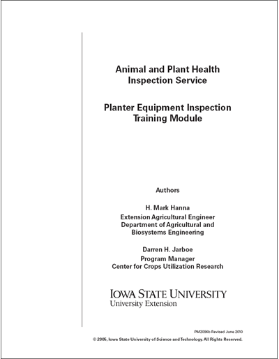 Animal and Plant Health Inspection – Planter