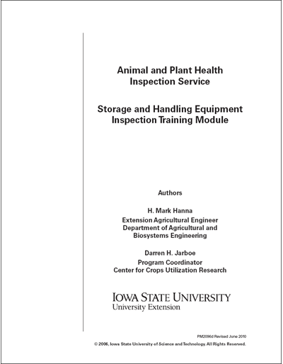 Animal and Plant Health Inspection – Storage