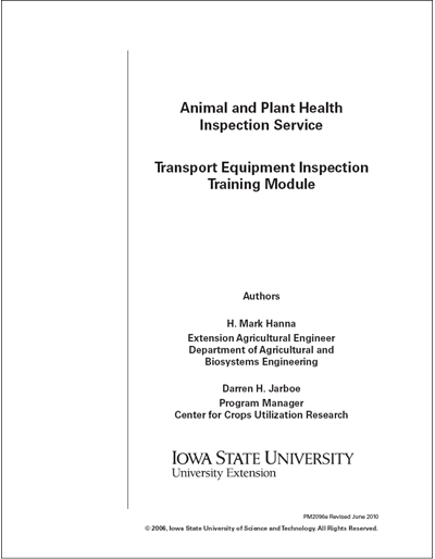 Animal and Plant Health Inspection – Transport