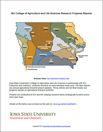 ISU College of Agriculture and Life Sciences Research Progress Reports
