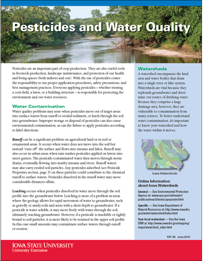 Pesticides and Water Quality