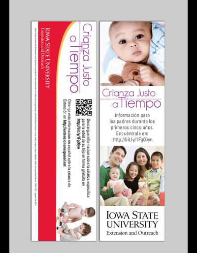 Crianza Justo a Tiempo bookmark (Unit=Pkg of 50)