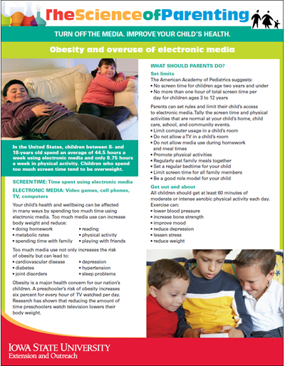 Obesity and Overuse of Electronic Media - Science of Parenting