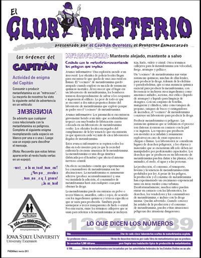 Metanfetamina: Mantente alejado, mantente a salvo -- El Club Misterio