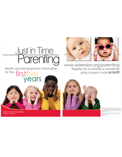 Just in Time Parenting Display - English