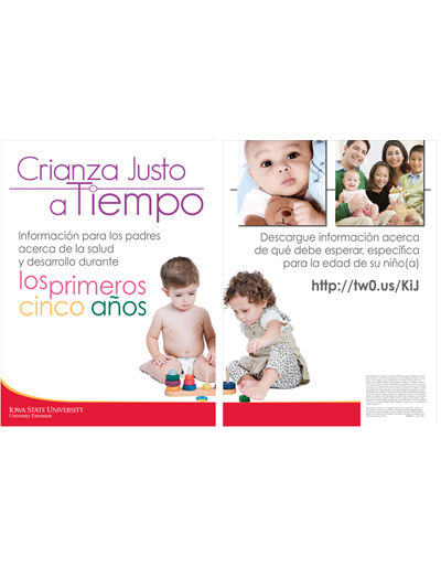 Crianza Justo a Tiempo (2 poster set) SPANISH Just in Time Parenting (for use in oak frame display)