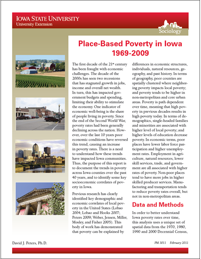 Place-Based Poverty in Iowa