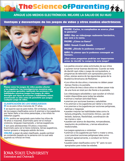 The Science of Parenting | Ventajas y desventajas de los juegos de video y otros medios electrónicos