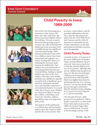 Child Poverty in Iowa - 1969-2009