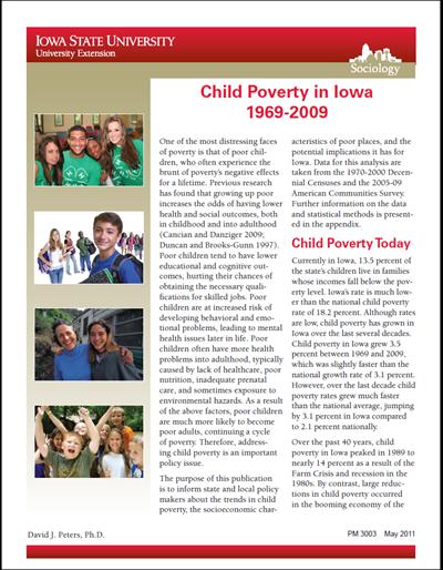 Child Poverty in Iowa - 1969-2009