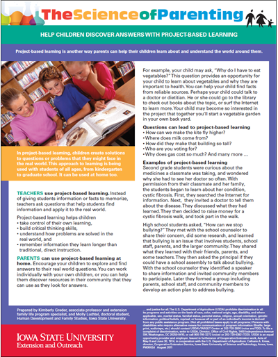Help Children Discover Answers with Project-based Learning -- Science of Parenting