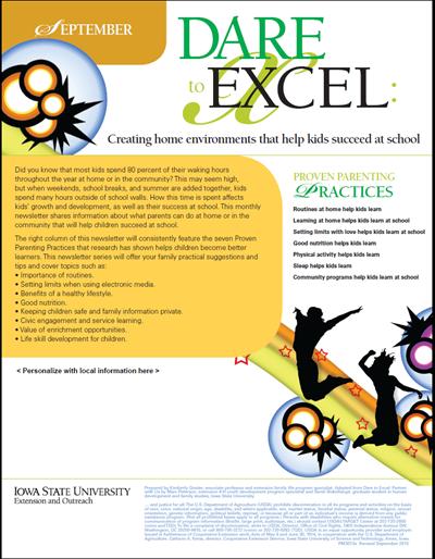 Dare to Excel newsletter - September