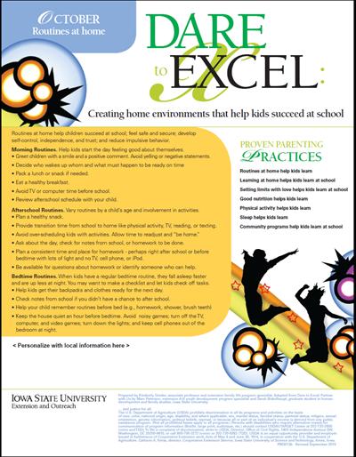Dare to Excel newsletter - October