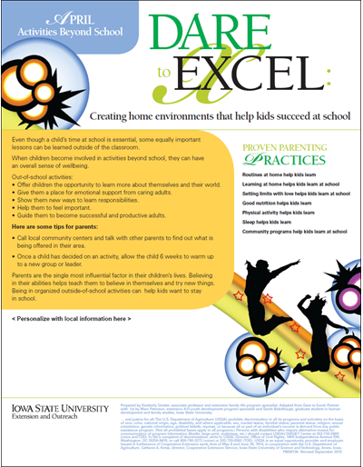 Dare to Excel newsletter - April