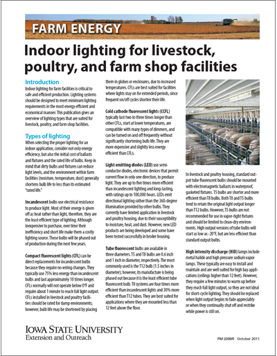 Indoor Lighting for Livestock, Poultry and Farm Shop Facilities - Farm Energy