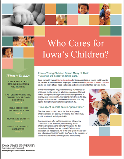 Who Cares for Iowa's Children
